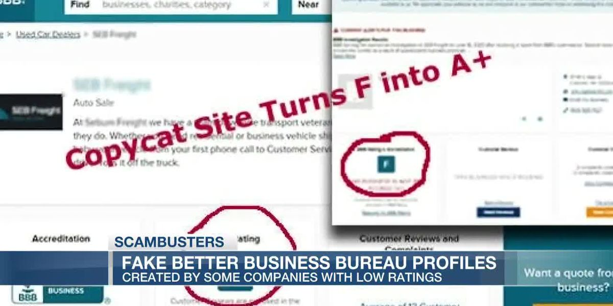 VIDEO: Live 5 Scambusters: BBB warns about spoofed pages to hide poor ratings