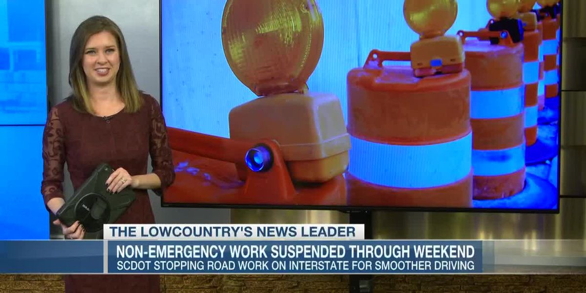 VIDEO: Non-emergency road work suspended through weekend.