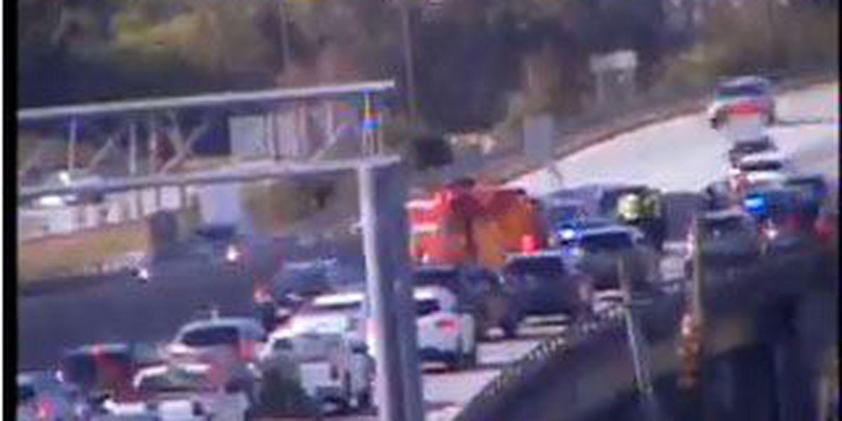 Crews clear I-26 WB accident near Rutledge Avenue