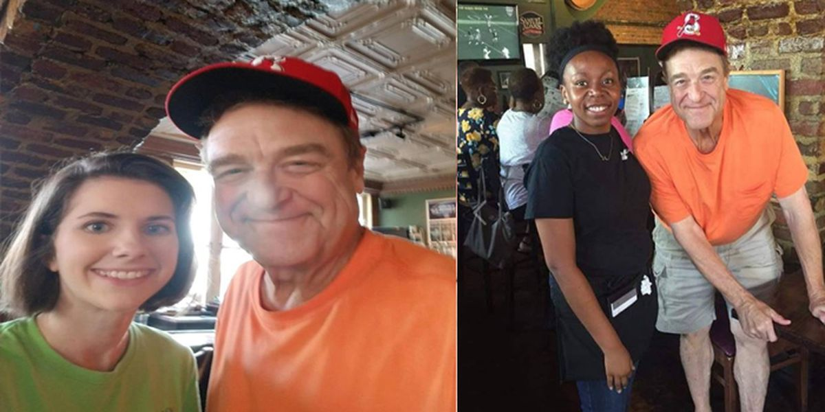 Actor John Goodman spotted at downtown Charleston restaurant