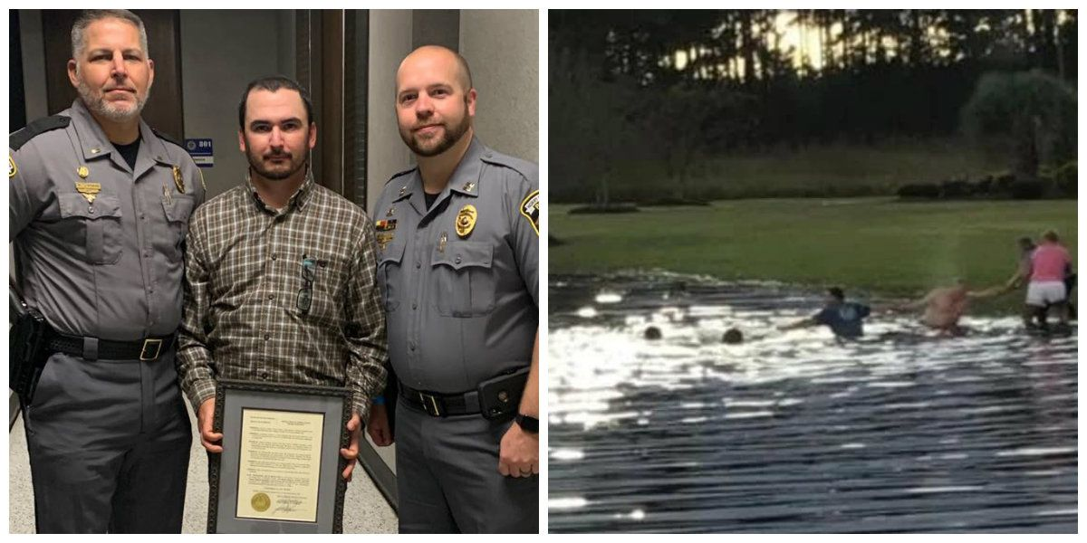 Horry officer recognized for helping save two people from submerged vehicle