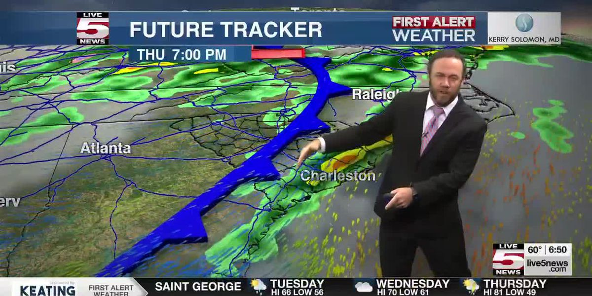 VIDEO: FIRST ALERT: Storms, strong winds possible Thursday