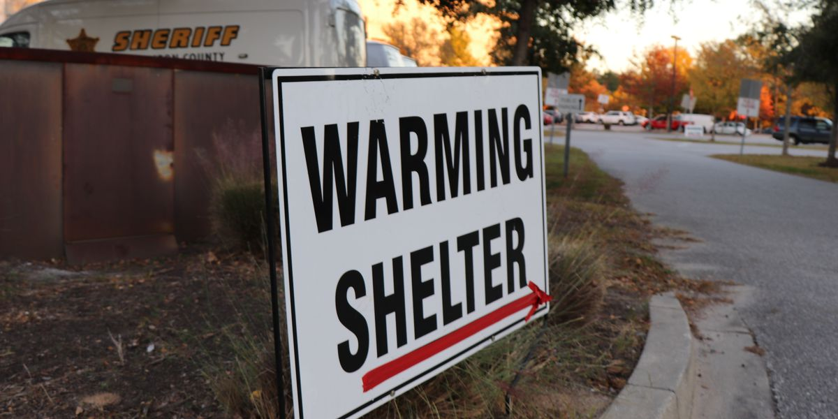 LIST: Warming shelters open in the Lowcountry as freezing temperatures approach