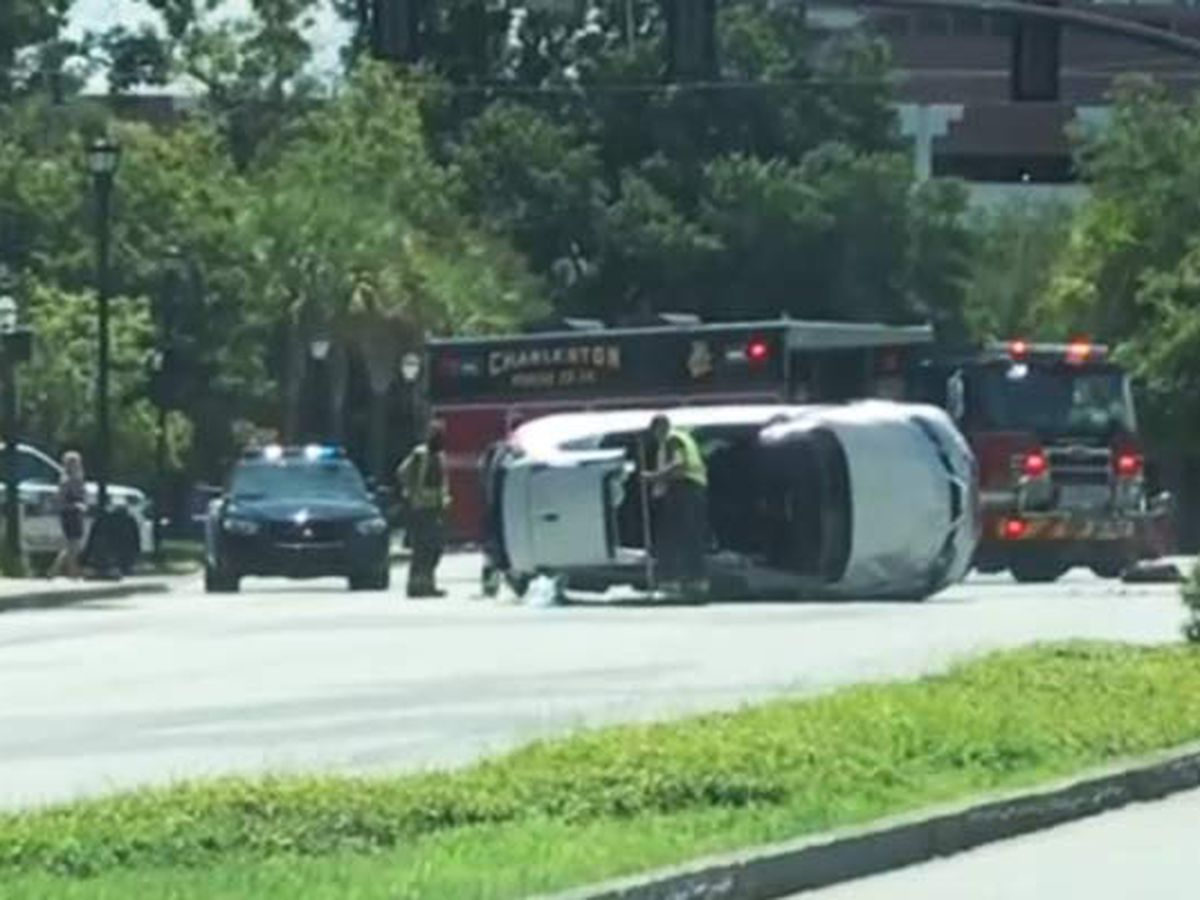 Crosstown reopens after overturned vehicle blocked northbound lanes