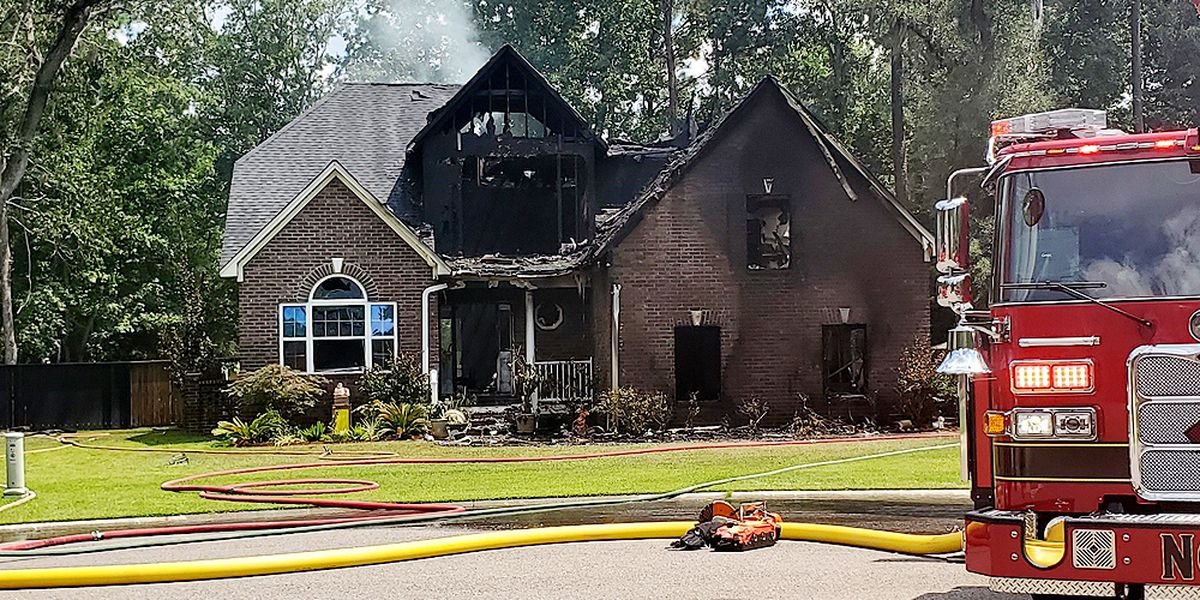 Two transported to hospital after house fire in North Charleston