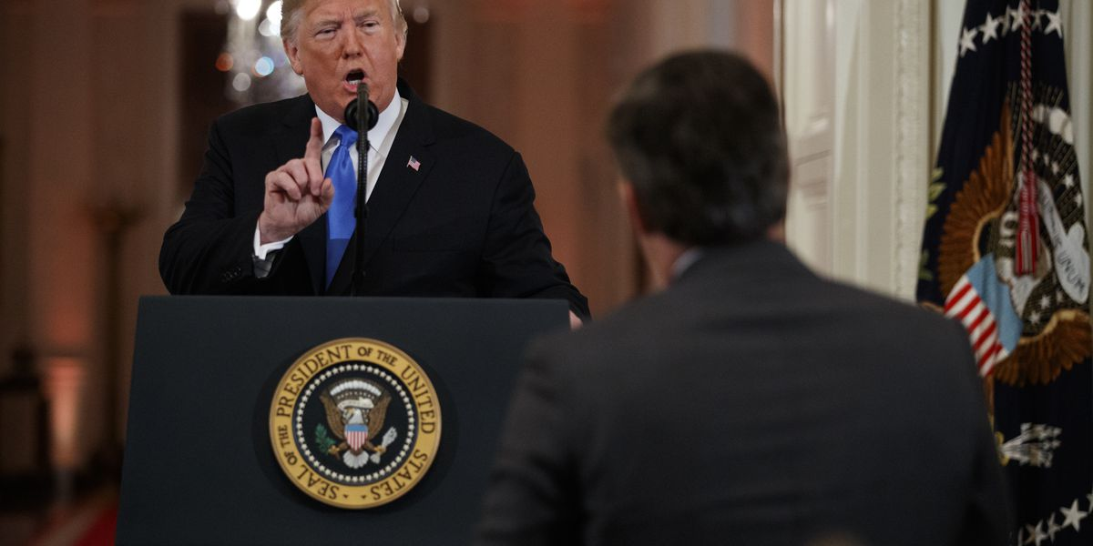 The Latest: White House suspends pass of CNN's Acosta
