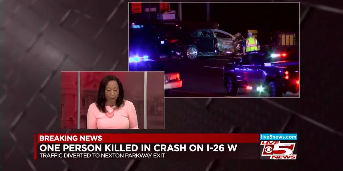 VIDEO: SCHP: One dead after crash Monday night on I-26 WB