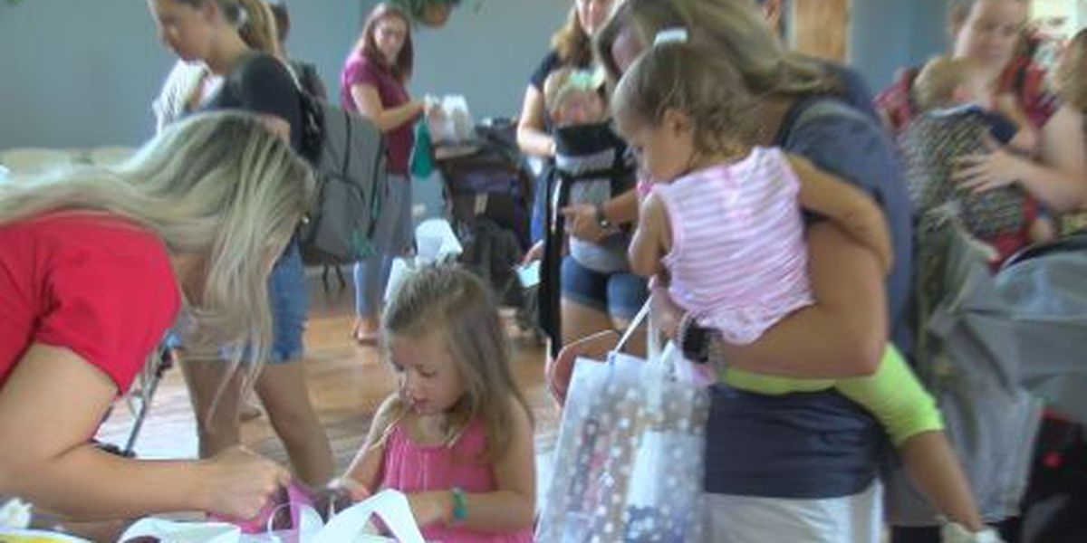 Hundreds of military spouses, kids given care packages in N. Charleston