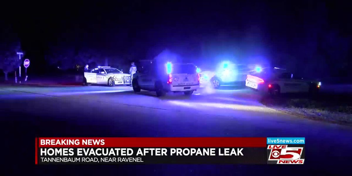 Propane leak forces evacuation near Ravenel