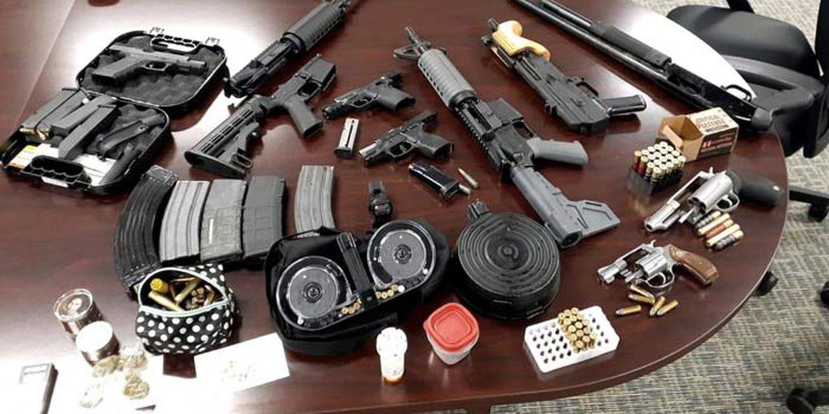 Deputies: Sound of gunfire leads to 3 arrests, seizure of guns, drugs