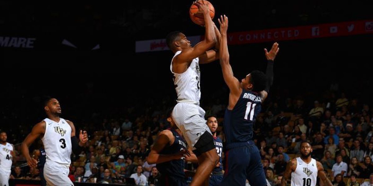 Fall's double-double helps UCF beat South Carolina St. 89-64