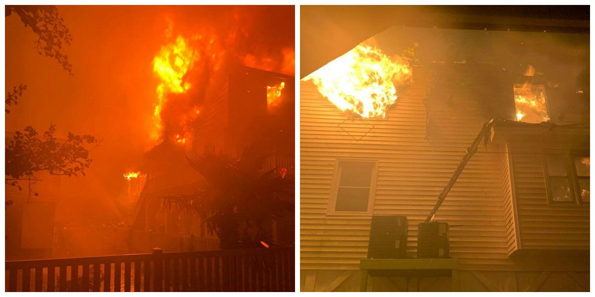 HCFR crews help battle multiple house fires in Ocean Isle Beach after Isaias makes landfall