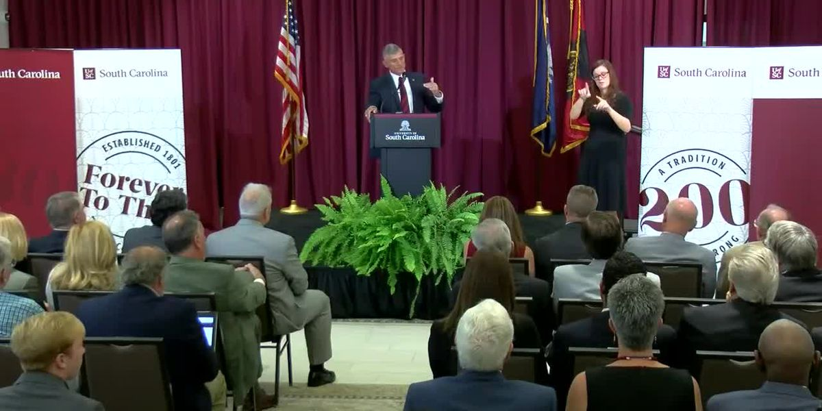 RAW VIDEO: Newly-hired UofSC President Robert Caslen sets goals, promises to listen to students, faculty