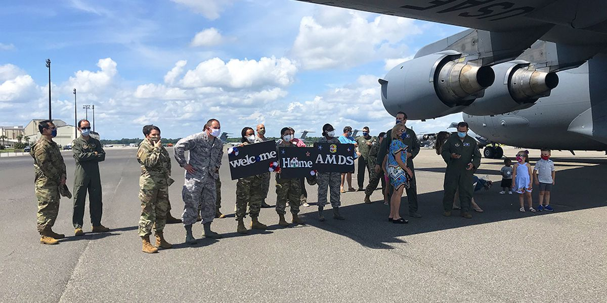 Air force medical personnel back home in Charleston after fighting pandemic in NY