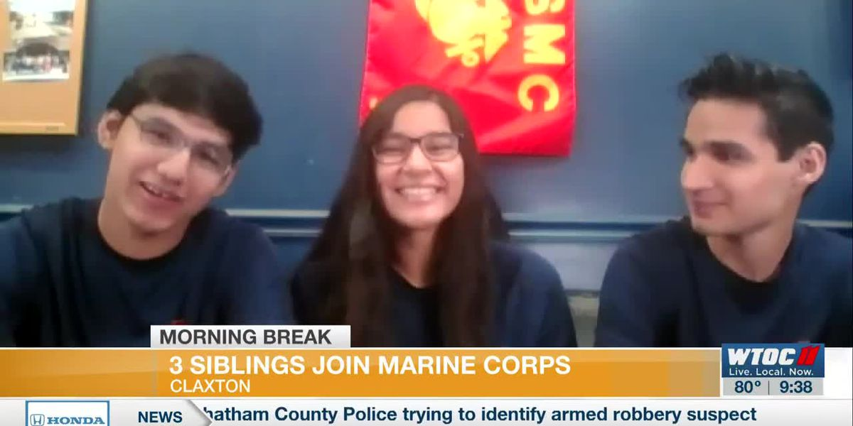 Three siblings join Marine Corps