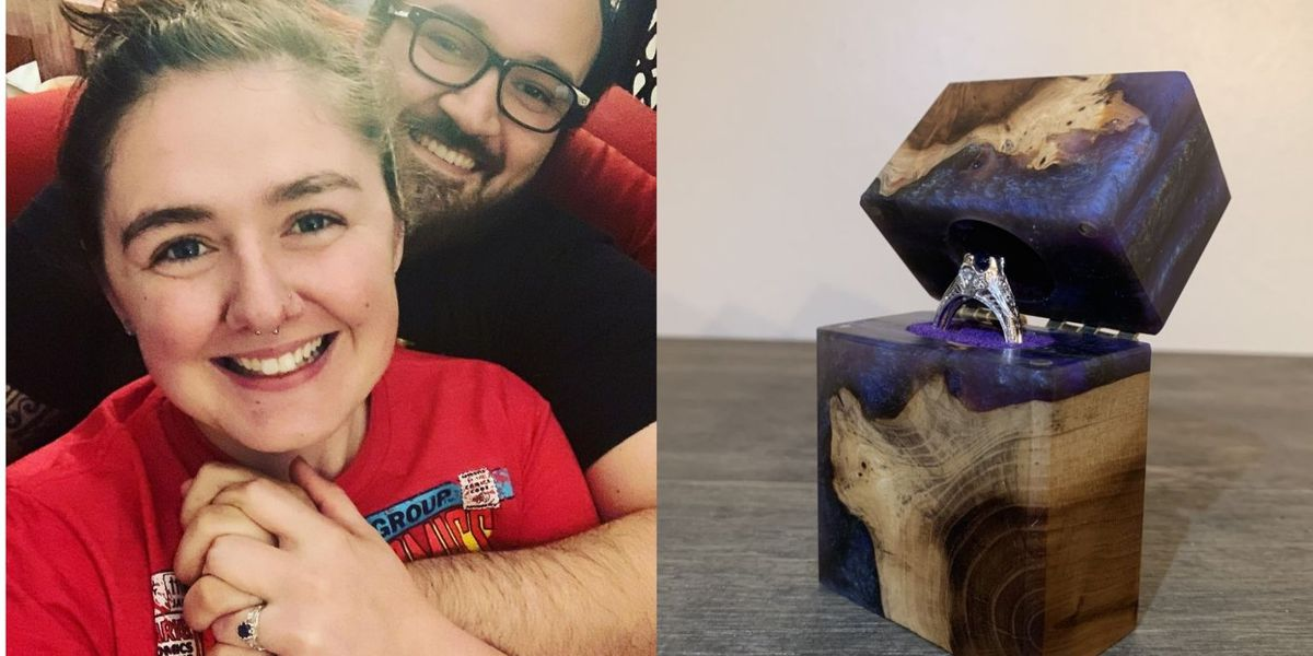 Columbia man uses woodworking skills to make special engagement ring box