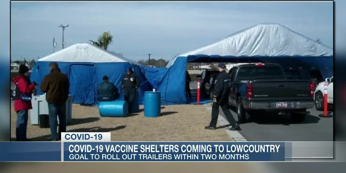 VIDEO: Three COVID-19 mobile vaccination shelters coming to the Lowcountry