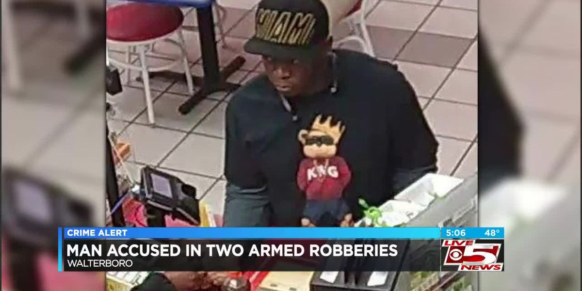 VIDEO: Walterboro Police release surveillance images from armed robberies