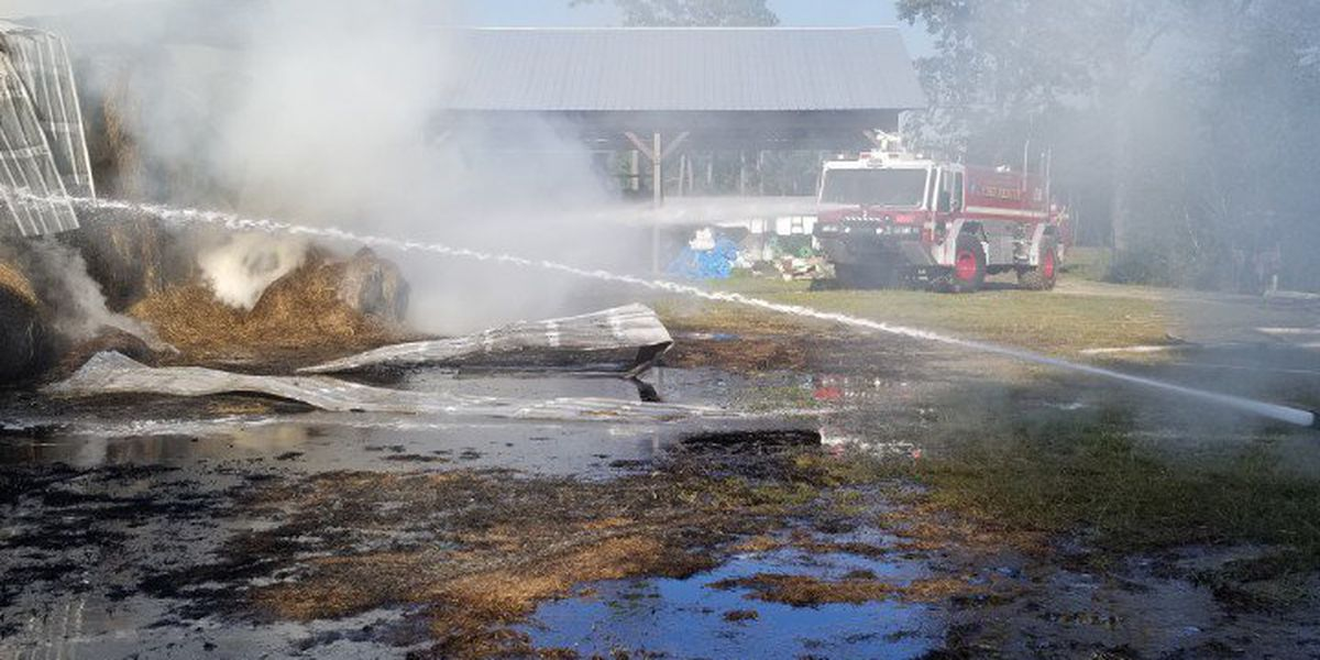 Firefighters continuing to battle barn fire in Colleton County