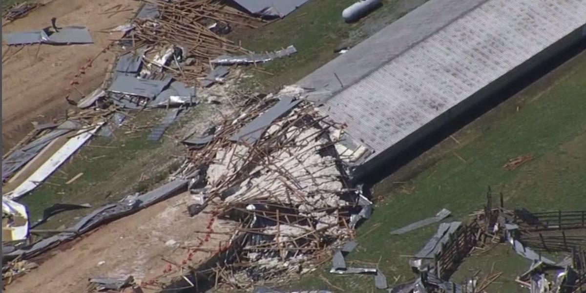 NWS confirms EF-1 tornado hit York County, S.C. destroying farm, killing about 4,000 turkeys