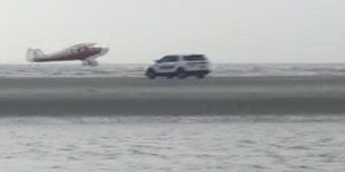 Video: Pilot lands on Sullivan's Island beach, takes off after police respond