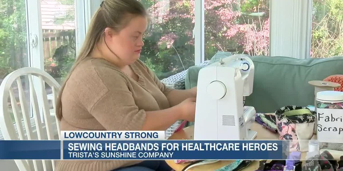 VIDEO: Lowcountry Strong: Sewing headbands and spreading 'sunshine' to help healthcare workers
