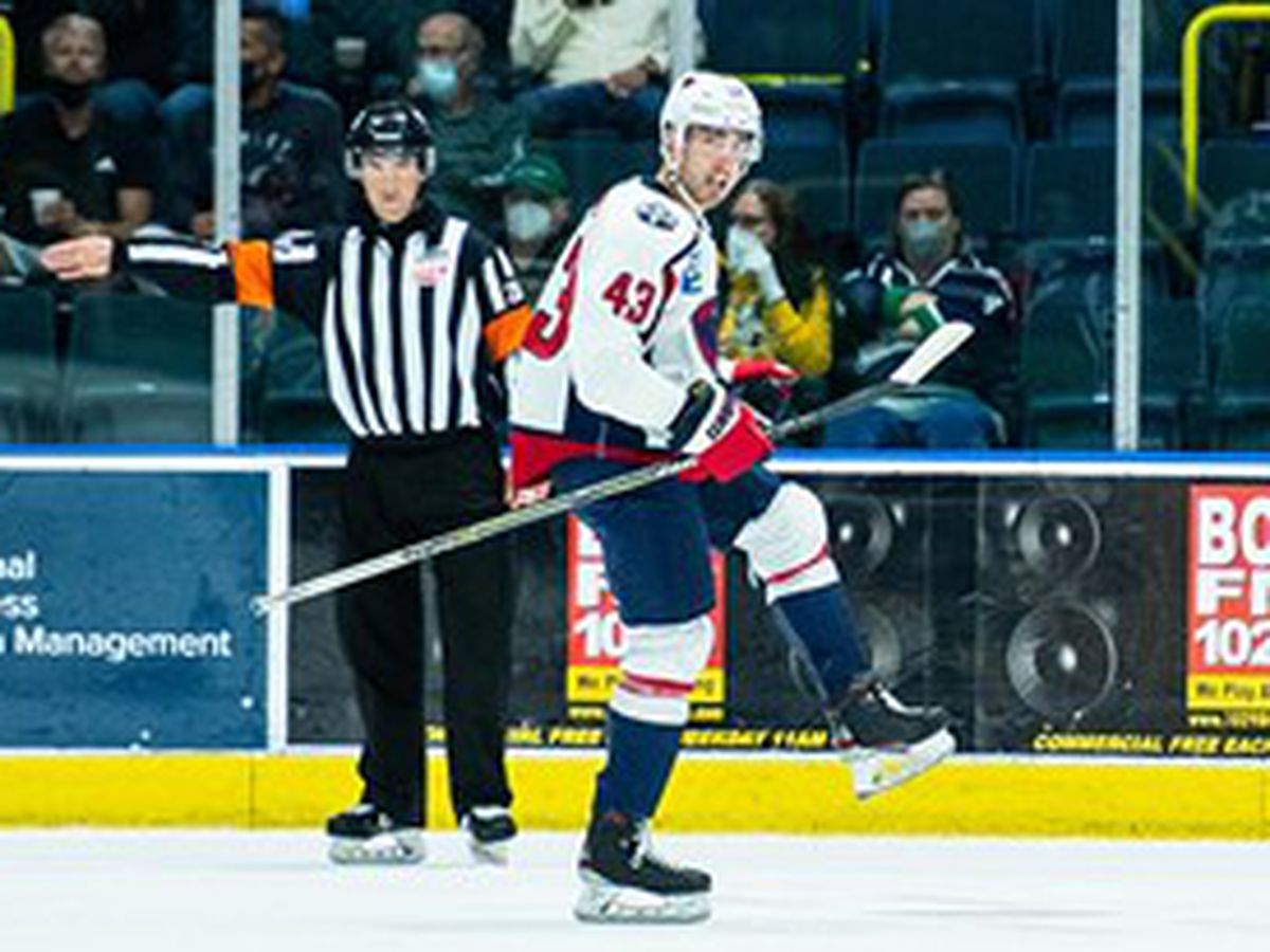 Hillman Strikes Twice To Give Stingrays OT Win