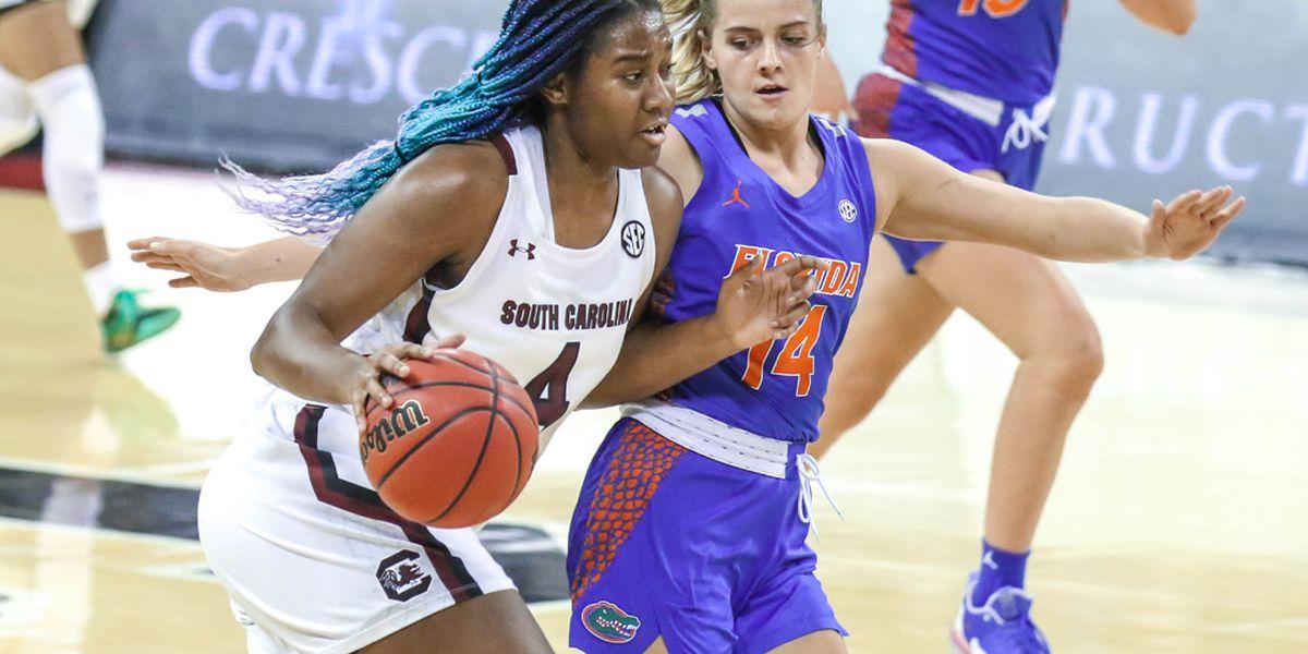 No. 5 South Carolina women win 13th straight over Florida