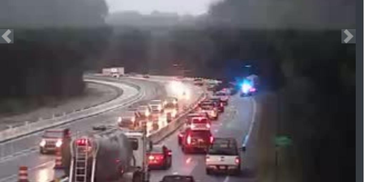All lanes blocked on I-20 W near U.S. 378 exit