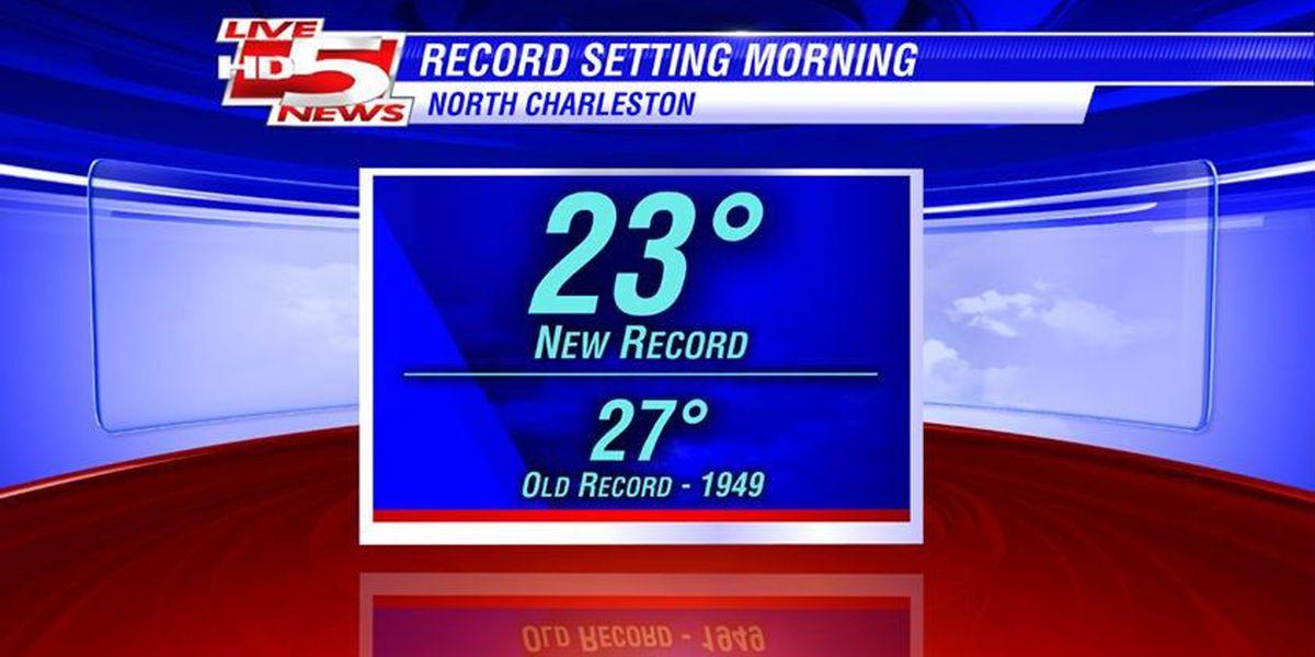 Record-breaking temps freeze N. Charleston
