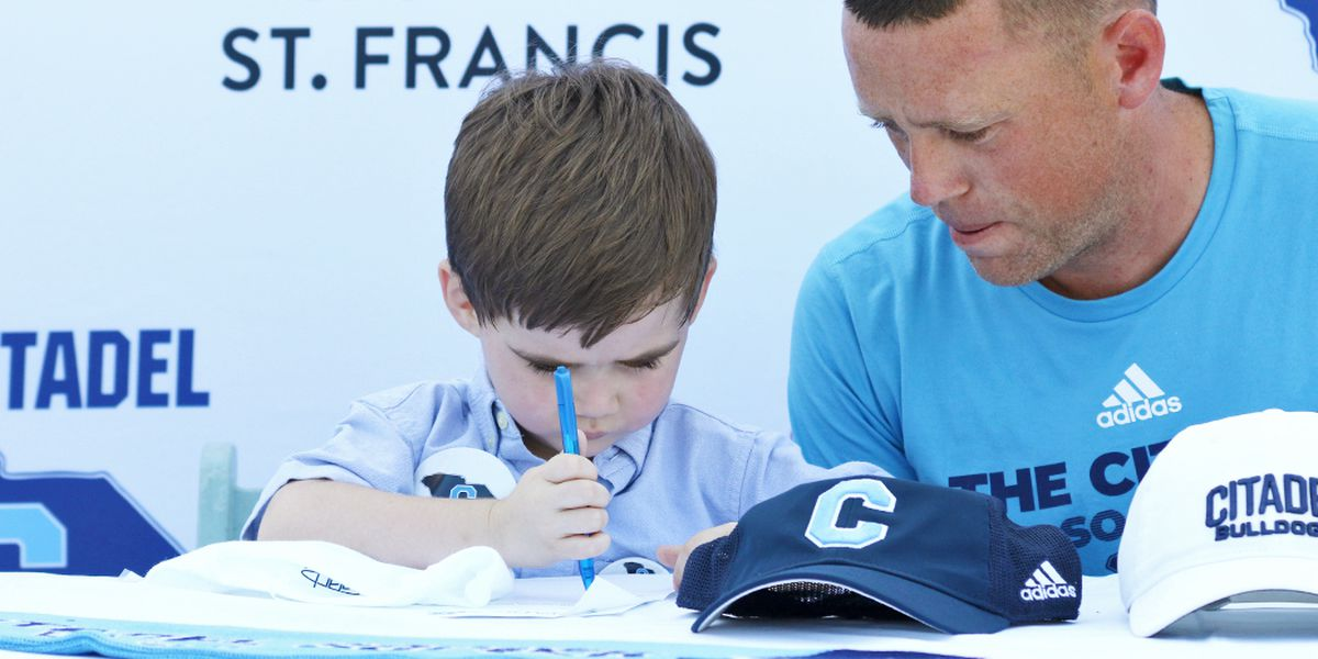 The Citadel's Soccer Team Signs Two Special Additions Through Friends of Jaclyn Foundation