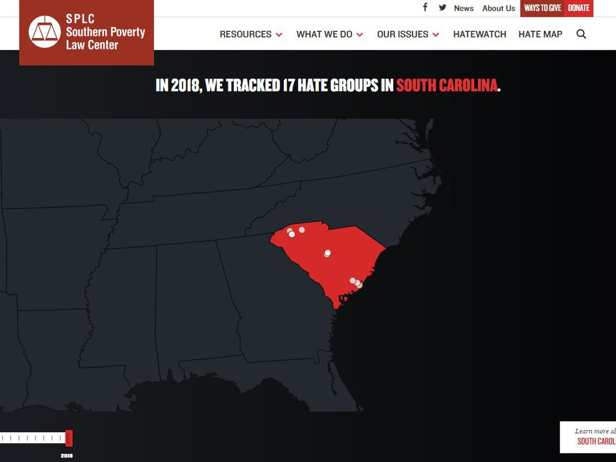 Report: Hate groups on the rise in South Carolina