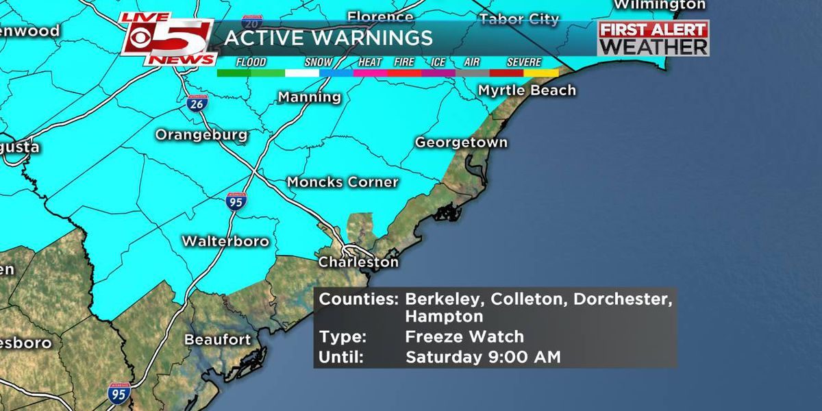 FIRST ALERT WEATHER: Freeze warning in effect until 9 a.m. Saturday
