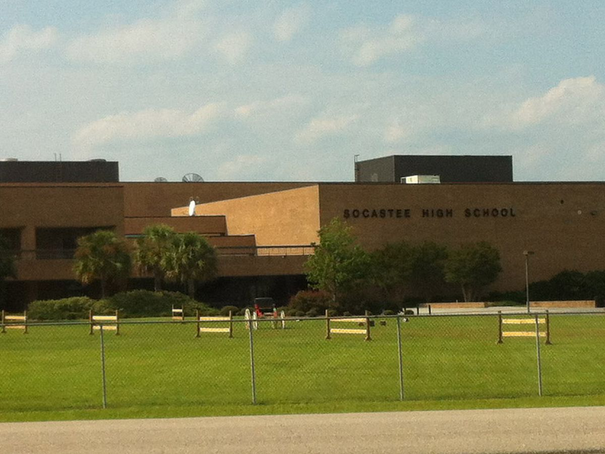 Law enforcement at Socastee High Wednesday after early-morning break-in