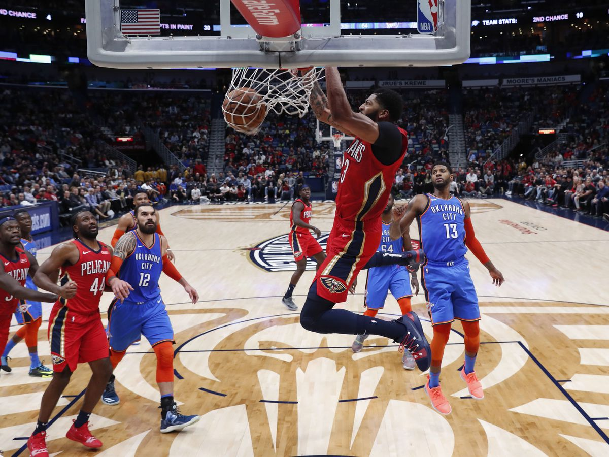 Davis' 44 points, 18 rebounds, helps Pelicans top Thunder