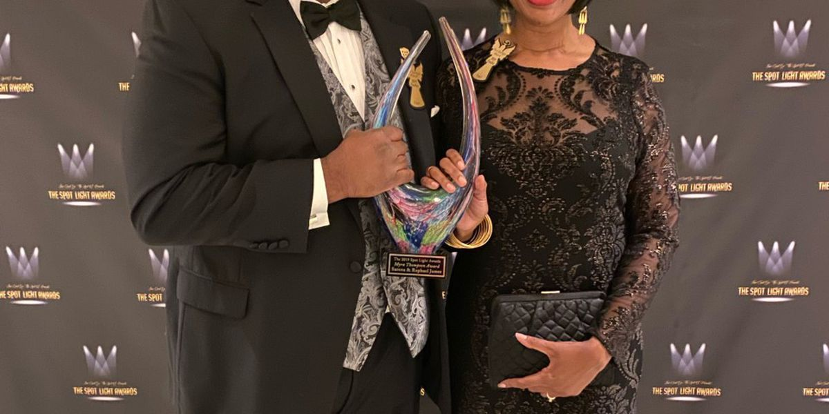 Live 5's Raphael James and wife Serena win Myra Thompson Award