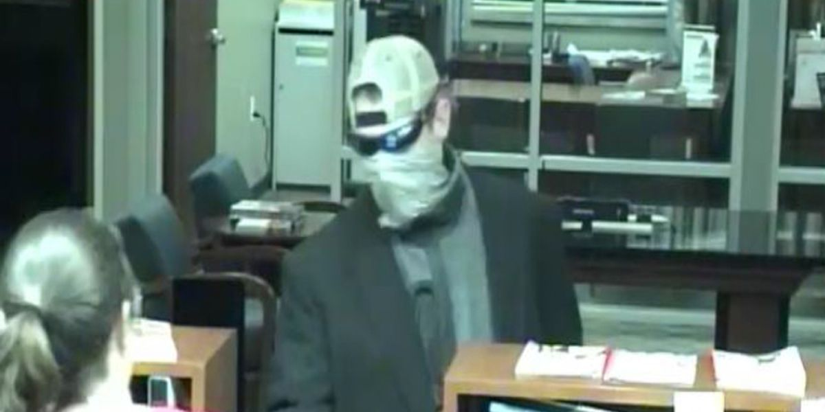 Police releases photos of man wanted for West Ashley bank robbery