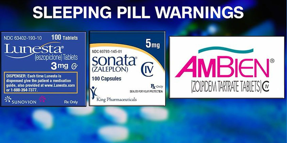 FDA issues strong warning over risks of common sleeping pills