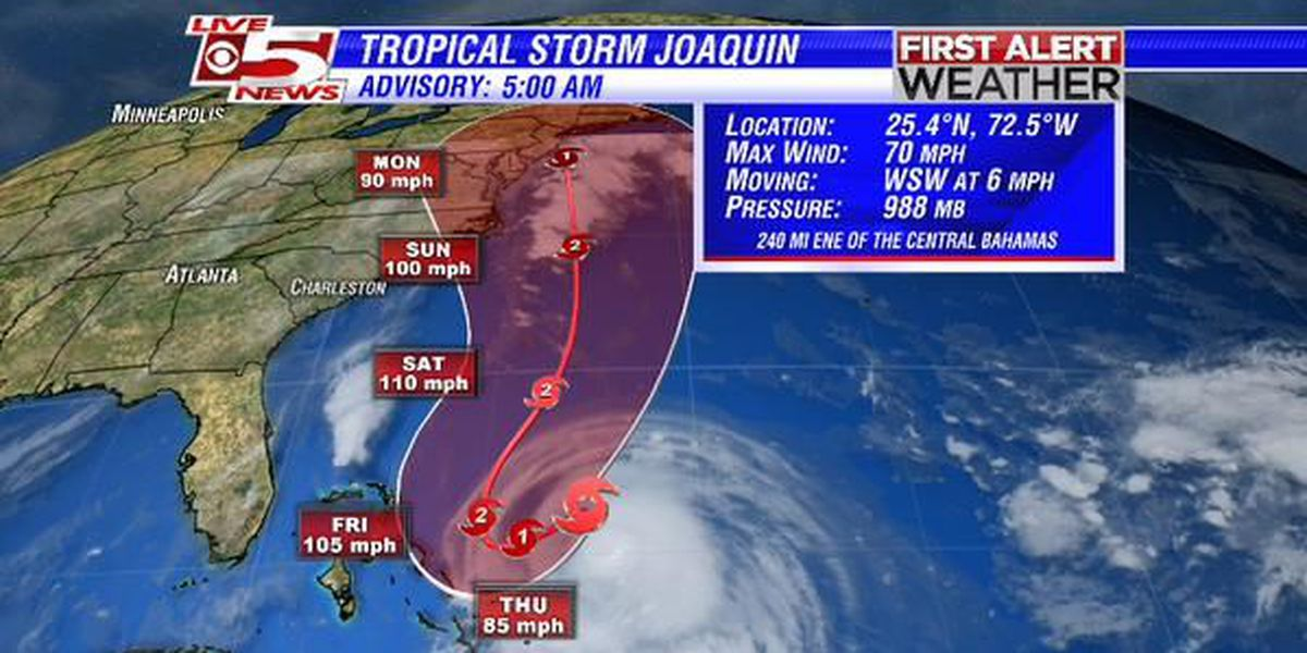 Hurricane warning issued in Bahamas as Joaquin approaches