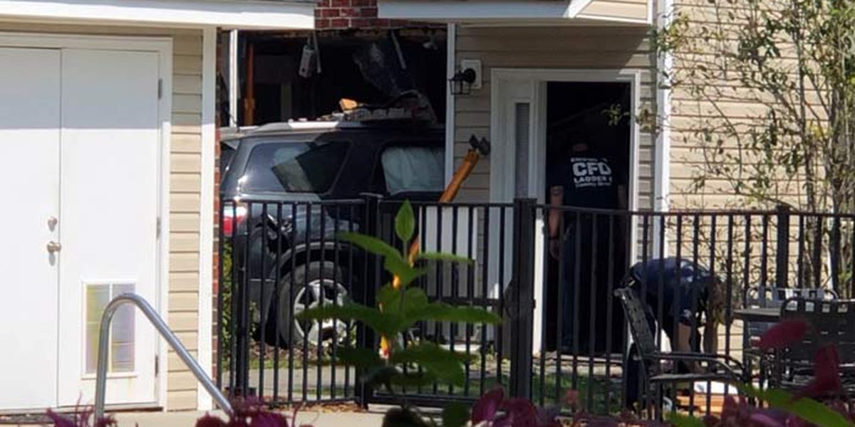 2 hospitalized after vehicle crashes into home