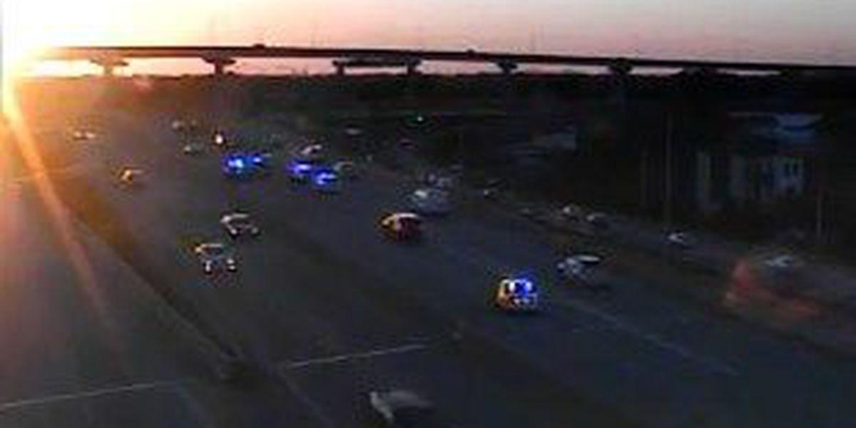 Emergency crews on Ravenel Bridge after motorcycle accident