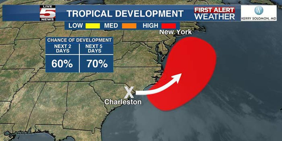 Low-pressure area could become Tropical Storm Fay off coast within days