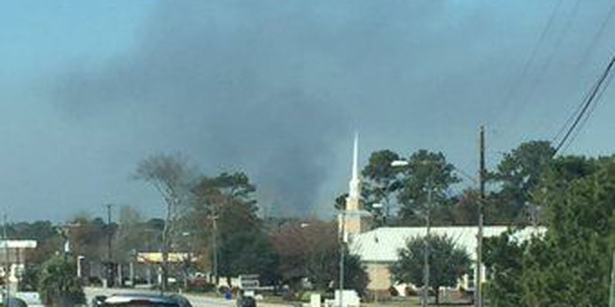 Prescribed fire burning at Naval Weapons Station
