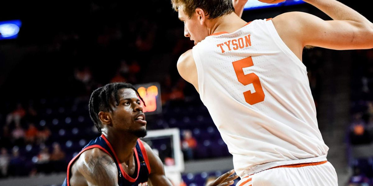 Tyson's 20 lead Clemson to 87-65 win over Detroit Mercy