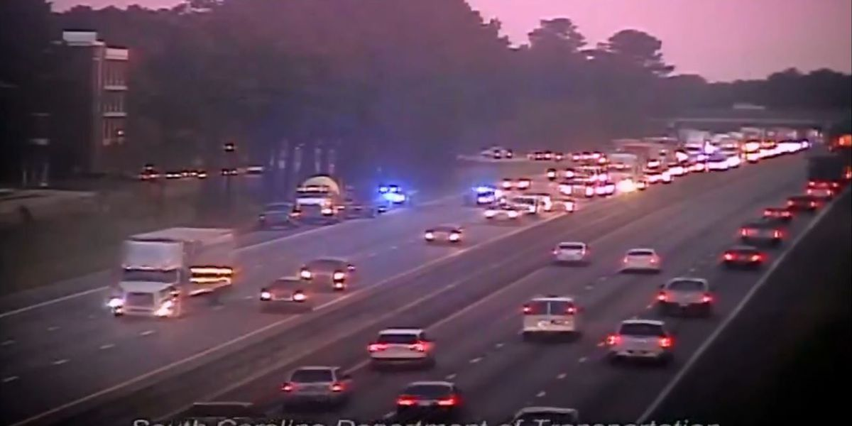 Lanes reopen after I-26 crash snarls morning rush-hour traffic