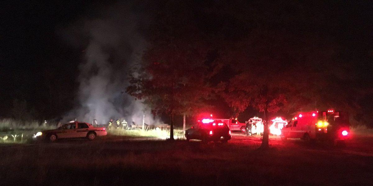 Early-morning fire destroys double-wide trailer fire in Moncks Corner