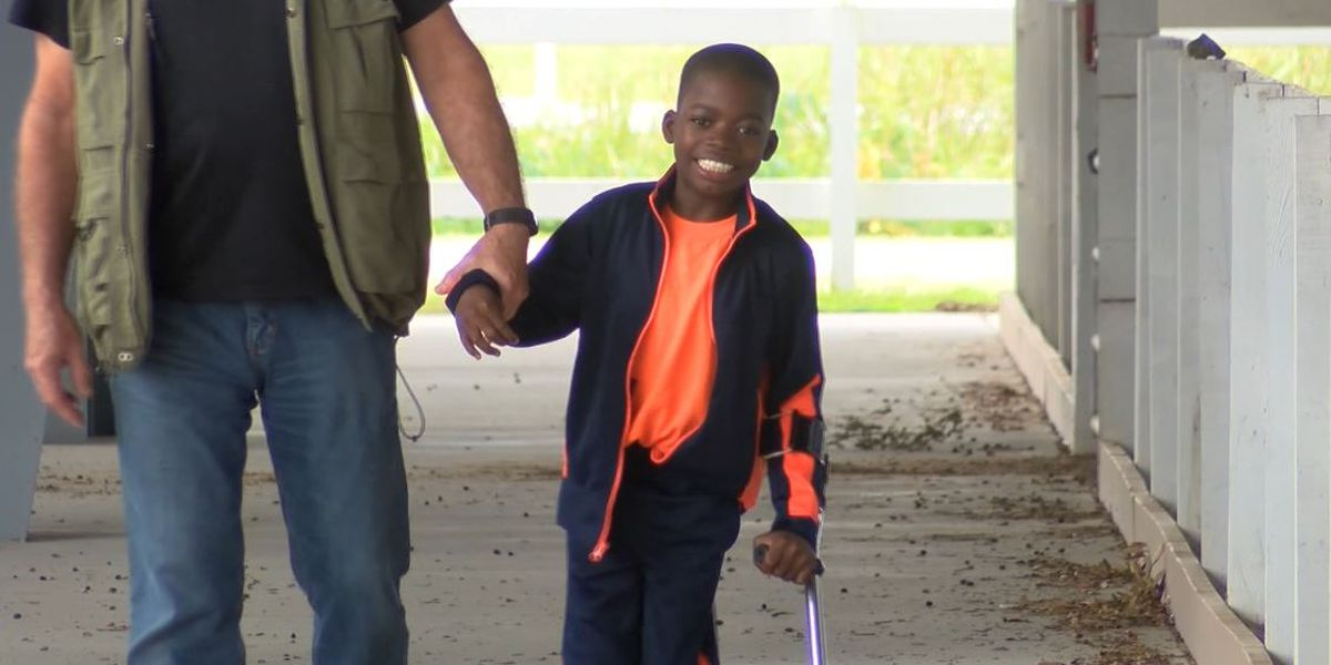 MUSC, local organizations help 11-year-old child from Ghana learn to walk