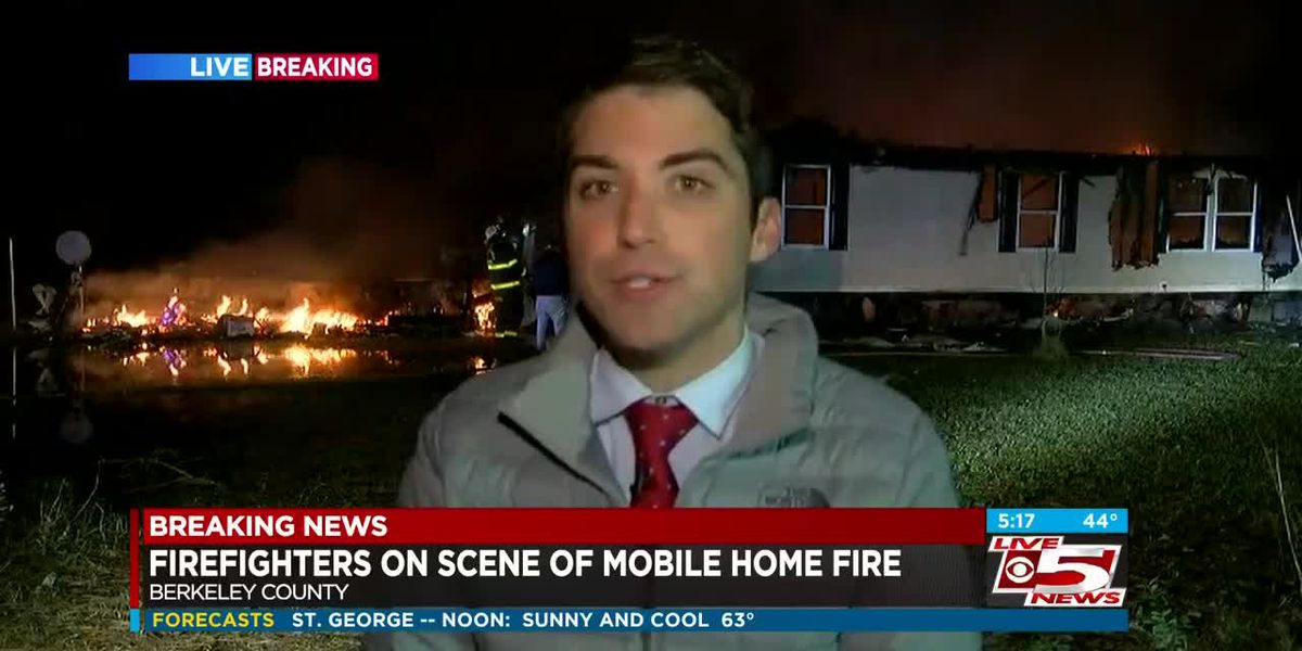 VIDEO: Crews responding to mobile home fire in Berkeley County