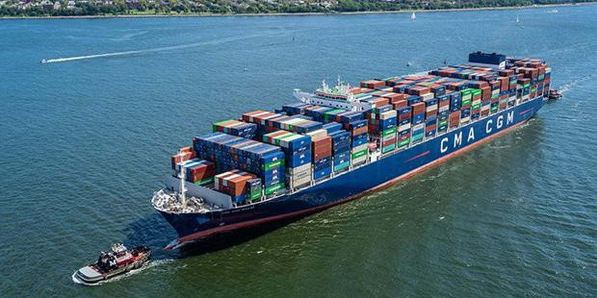 Largest container ship to visit U.S. east coast arrives in Charleston