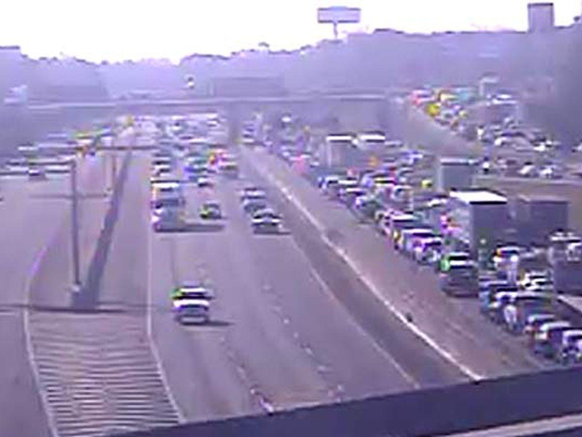 FIRST ALERT: Crash blocks 2 eastbound lanes of I-26 near Ashley Phosphate